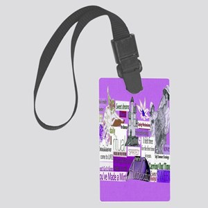 empower5x8purp Large Luggage Tag