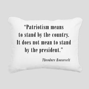 Theodore-Roosevelt Rectangular Canvas Pillow