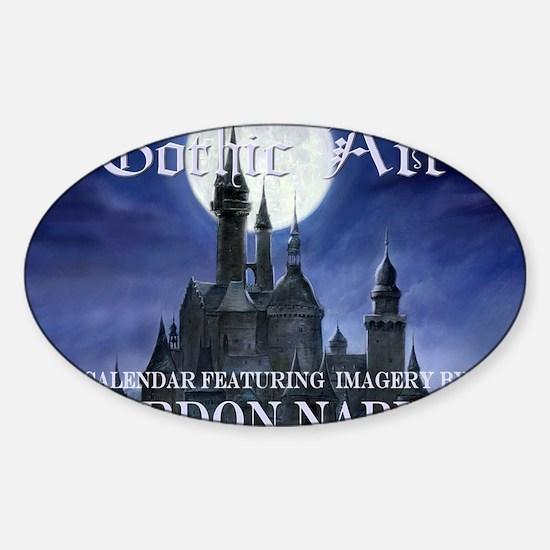 2-Gothic_Castle for broad calcov Sticker (Oval)