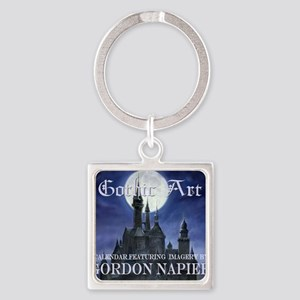 2-Gothic_Castle for broad calcov Square Keychain