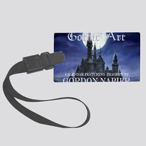2-Gothic_Castle for broad calcov Large Luggage Tag