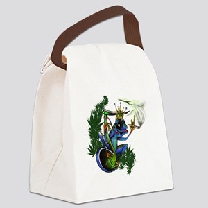 frog5 Canvas Lunch Bag