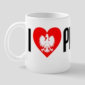 I Love Pierogi Sticker Mug