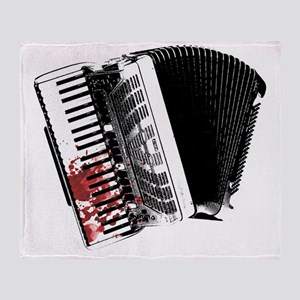 Bloody Accordion Throw Blanket