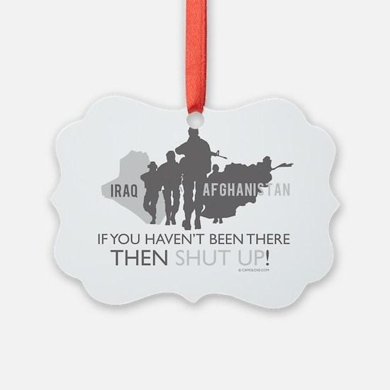 IraqAfghansitanShutUp200dpi Ornament