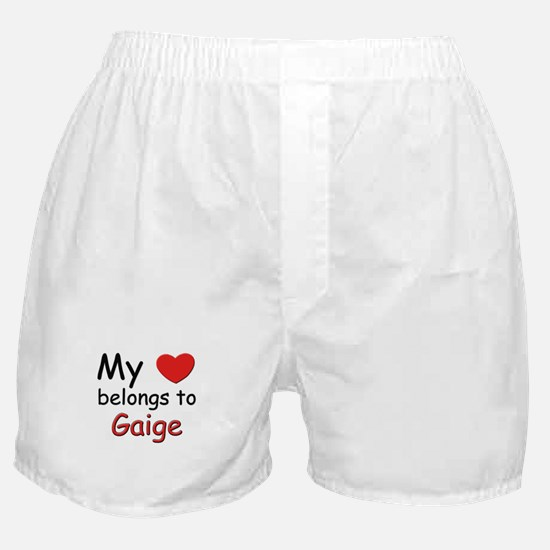 My heart belongs to gaige Boxer Shorts
