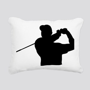 Golfer 02 Rectangular Canvas Pillow