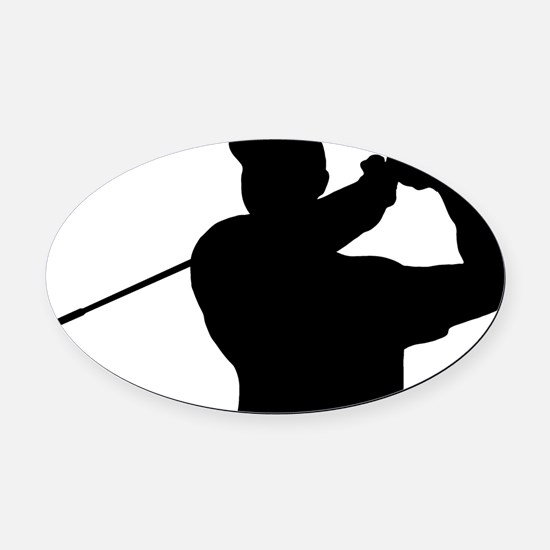 Golfer 02 Oval Car Magnet
