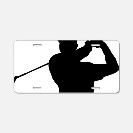 Golfer 02 Aluminum License Plate