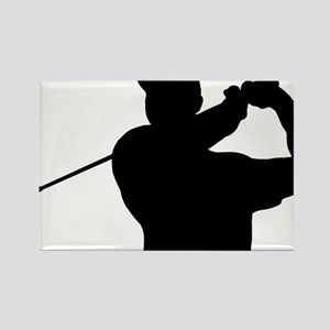 Golfer 02 Rectangle Magnet