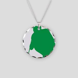 Golfer 15 Necklace Circle Charm
