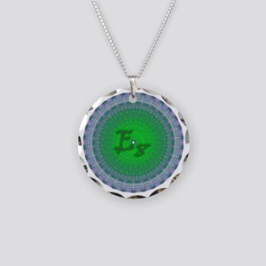 E8_Green Necklace Circle Charm