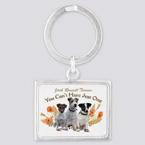 Jack Russell Cant Have Just One Landscape Keychain