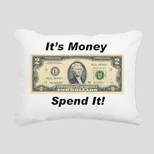 spend it tom 200 Rectangular Canvas Pillow