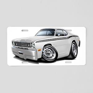 1970-74 Duster White-Black  Aluminum License Plate