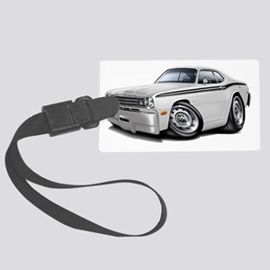 1970-74 Duster White-Black Car Large Luggage Tag