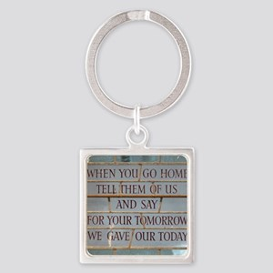 When you go Square Keychain