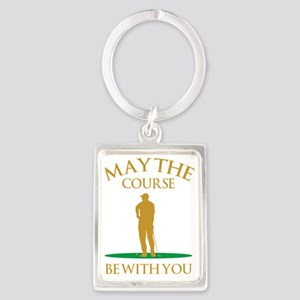 May The Course Be With You Portrait Keychain