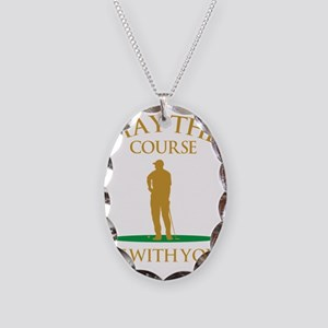 May The Course Be With You Necklace Oval Charm