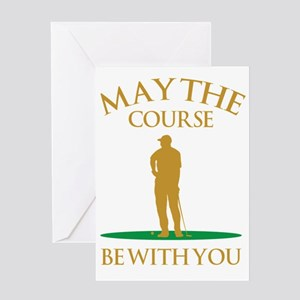 Sports greeting cards cafepress may the course be with you greeting card m4hsunfo