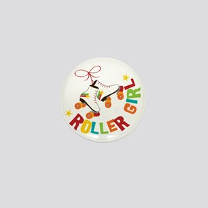 Roller Skate Girl Mini Button