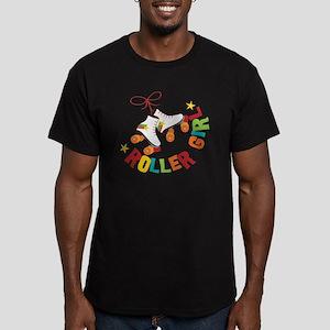 Roller Skate Girl Men's Fitted T-Shirt (dark)