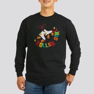 Roller Skate Girl Long Sleeve Dark T-Shirt