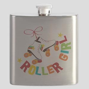 Roller Skate Girl Flask