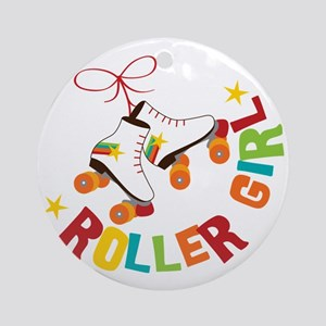 Roller Skate Girl Round Ornament