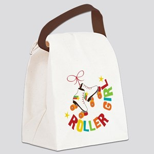 Roller Skate Girl Canvas Lunch Bag