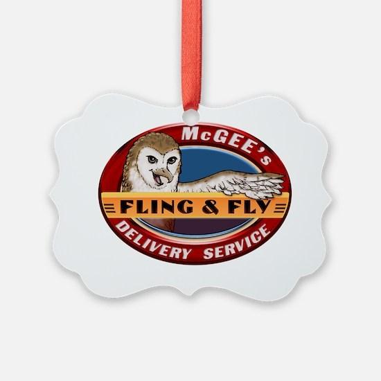 Fling  Fly Logo Ornament