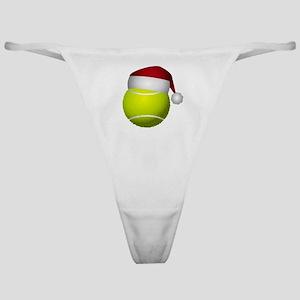 Christmas Tennis Ball with Santa Hat Classic Thong