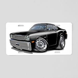 1970-74 Duster Black-White  Aluminum License Plate