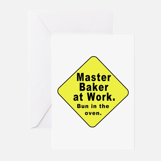 Master Baker - Bun in the Oven Greeting Cards (Pac