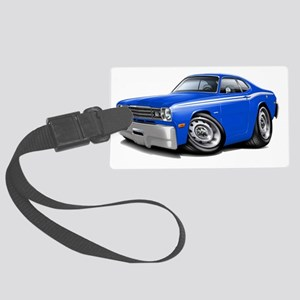 1970-74 Duster Blue-White Car Large Luggage Tag