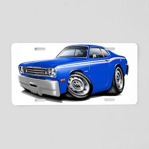 1970-74 Duster Blue-White C Aluminum License Plate