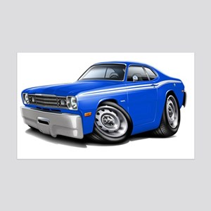 1970-74 Duster Blue-White Car 35x21 Wall Decal