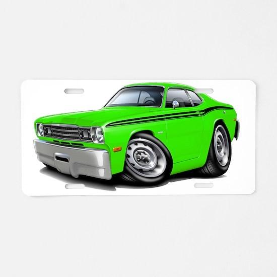 1970-74 Duster Lime-Black C Aluminum License Plate