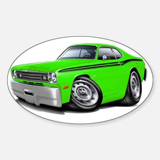 1970-74 Duster Lime-Black Car Sticker (Oval)