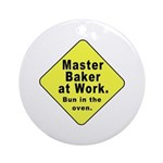 Master Baker - Bun in the Oven Ornament (Round)