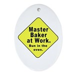 Master Baker - Bun in the Oven Oval Ornament