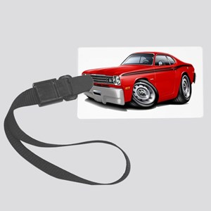 1970-74 Duster Red-Black Car Large Luggage Tag