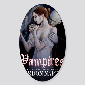 vampires cal cov Sticker (Oval)
