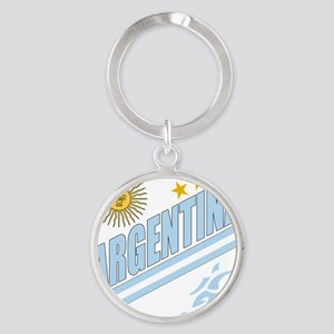 2-argentina b Round Keychain