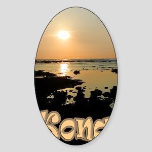 KonaSunsetGold Sticker (Oval)