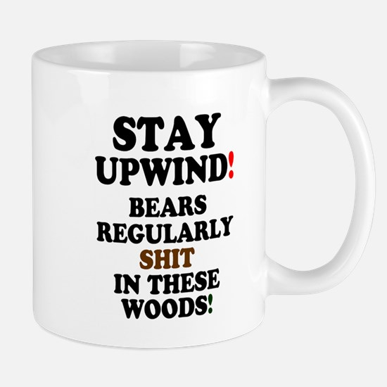 SSTAY UPWING - BEARS SHIT IN THE WOODS! Mugs
