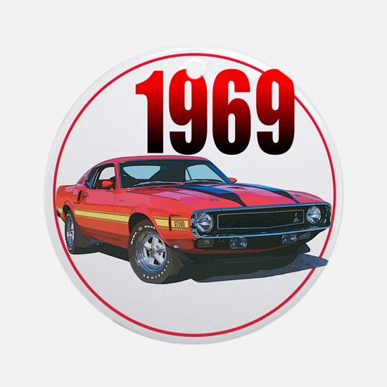 69GT500-C8trans Round Ornament