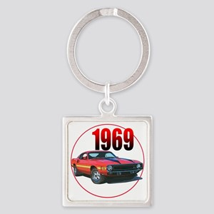 69GT500-C8trans Square Keychain