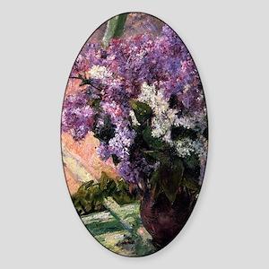 Lilacs Sticker (Oval)