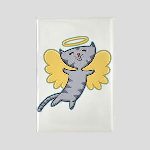 Cat Angel Rectangle Magnet